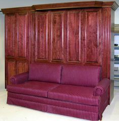 Maroon Murphy Bed Sofa