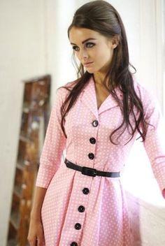 1950s-style Check Shirt Dress by Tara Starlet