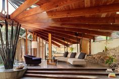 modern timber wood ceiling