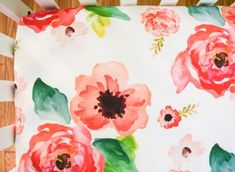 Large watercolor floral or boho crib sheet girls baby bedding - shabby chic - garden floral prints - modern and chic pretty flowers Baby Nursery Decor, Baby Decor, Girl Nursery, Nursery Ideas, Rustic Nursery, Floral Nursery, Nursery Bedding, Girl Room, Baby Room