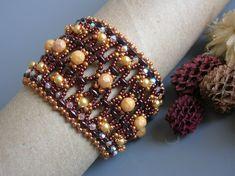 Tutorial - Earth treasures bracelet Superduo and Fire Polish tutorial