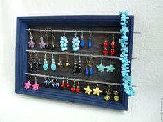 Купить Мини-витрина для украшений - органайзер для украшений, мебель из дерева, рамка для бусин, купить стенд