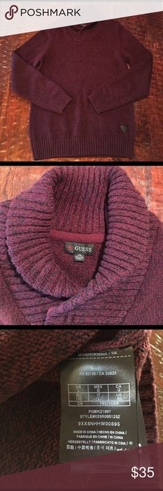 "Guess Oversized Cowl Neck Sweater Large Guess Oversized Cowl Neck Sweater. Sweater is 28 1/2"" from shoulder to hem. Bust measures 20"" laying flat. Sweater is in excellent condition with no signs of wear. Comes from a Smoke Free/Pet Friendly home. Offers always welcome. Guess Sweaters Cowl & Turtlenecks"