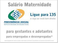 Informativo sobre salário maternidade