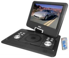 Pyle Portable DVD CD Player - 14 Inch High Resolution TFT Swivel Angle Foldable Display Screen Built-in Rechargeable Battery USB/SD Card Readers Memory & Multimedia Support w/ Remote Control - Black Usb, Mp4 Player, Dvd Players, Audio Player, Video Home, Lcd Monitor, Car Audio, Portable, Sd Card