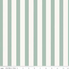 Carina Gardner by Riley Blake, Apricot & Persimmon, Stripe Mint