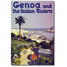 Printed Canvas Art Vintage Trav Genoa by Vintage Apple Collection with Stretched Frame – AUD $ 52.79