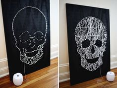 String art skull diy                                                       …
