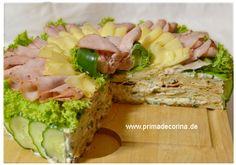 Partyrezept Smörgostårta Sandwich Torte, Food Kids, Party Buffet, Party Snacks, Tuna, Finger Foods, Allrecipes, Kids Meals, Cobb Salad
