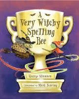 KISS THE BOOK: A Very Witchy Spelling Bee by George Shannon –ESSENTIAL Cordelia is a little witch who is really good at spelling. She even practices her spelling right along with her spells! She enters a spelling bee against an evil old witch and finds out it will take all her bravery and creativity to keep in the competition.
