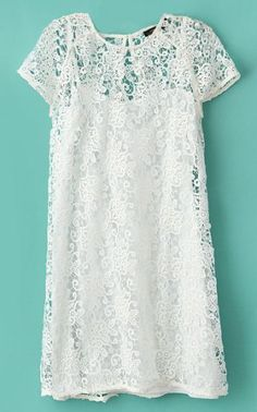 Simply gorgeous | Crochet Lace Dress with Camisole | LFF Designs | www.facebook.com/LFFdesigns