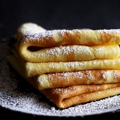 Austrian Crêpes (Palatschinken) are thin, very fluffy and traditionally filled with apricot jam.