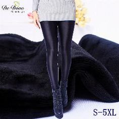 a0e7708ec022f4 De Dove Winter Thicken Nylon Legging Plus Size 5Xl Thickness Shiny Nylon  Pants Big Yards Plus Velvet Leggings Wholesale Outwear