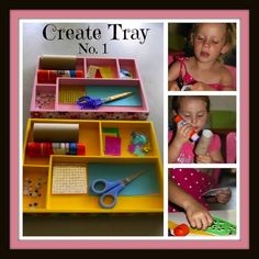 Four Little Piglets: CREATE TRAY NO. 1 GLUEING & CUTTING