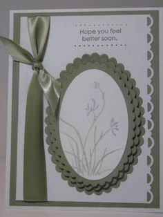 Kind & Caring Thoughts  Lavender... kh by Kelly H - Cards and Paper Crafts at Splitcoaststampers  Use Just Believe in place of Kind and Caring stamp set