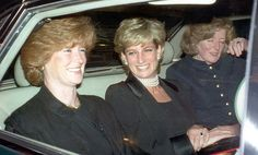 Princess Diana with her sisters Sarah McCorquodale (left) and Jane Fellowes (right).