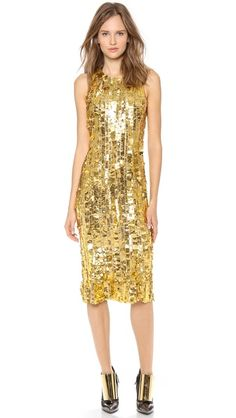 What I wouldn't give for this Wes Gordon Silk Sheath Dress as a reception dress...