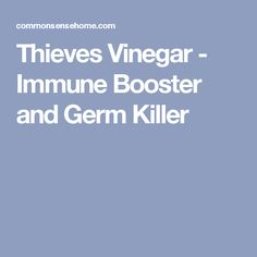 Thieves Vinegar - Immune Booster and Germ Killer