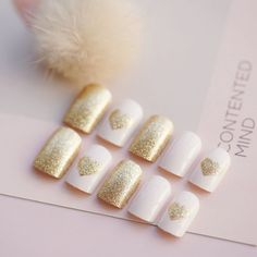 24pcs Glitter Full False Nails Short Artificial Nail Tips Salon Finger Manicure #Unbranded