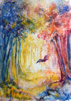 Forest by Alena Kazinskaya, via Behance