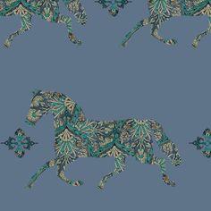 Morroccan Paisley Horse fabric by ragan on Spoonflower - custom fabric