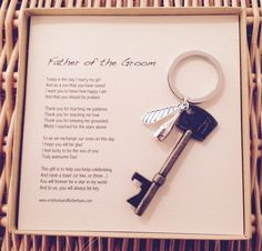 A sentimental Father of the Groom gift, for the soppy at heart...