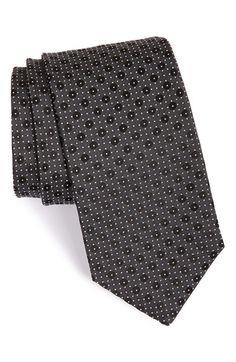 Men's BOSS Dot Silk Tie