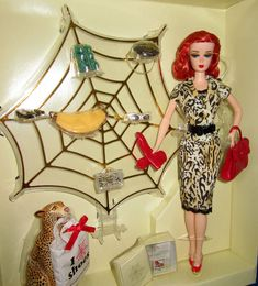 OOAK Rerooted RedHead Barbie w. Charlotte Olympia fashion accessories gift set #Barbie #DollswithClothingAccessories