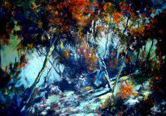 "Saatchi Online Artist Atalay Mansuroğlu; Painting, ""Night, Cold and Moonlight"" #art"
