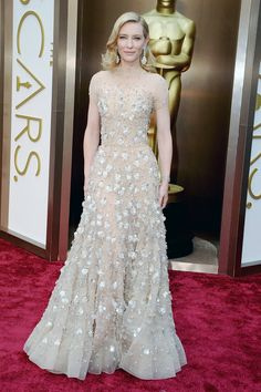 Cate Blanchett in Armani Prive & Chopard Oscar Dresses 2014 Style - Academy Awards 2014 Red Carpet Fashion - ELLE