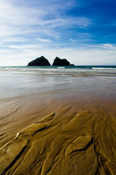 Holywell Bay - Cornwall - England (by Thomas Tolkien)