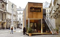 Plans To Design And Build A Container Home - SOA Architectes Paris > Projets > LOGEMENTS PRFABRIQUS ALGECO - Money like that being deposited directly into your bank account.while you watch a movie, or go out to the park with the kids? Building A Container Home, Container Buildings, Container Architecture, Exterior Design, Interior And Exterior, Architecture Design, Casas Containers, Container Design, Shipping Container Homes