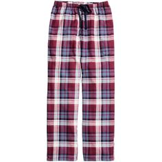 DKNY Plaid cotton-blend pajama pants ($44) ❤ liked on Polyvore ...