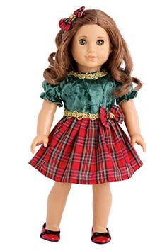 Christmas Classic - Green and Red Party Dress with Red Shoes - 18 Inch American Girl Doll Clothes DreamWorld Collections http://www.amazon.com/dp/B00JQW0DZ0/ref=cm_sw_r_pi_dp_DVRvwb0SCF7WD