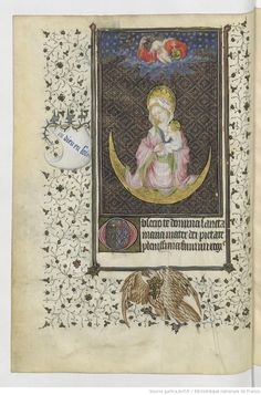 Virgin on the Moon, Horae ad usum Parisiensem [Heures de René d'Anjou, roi de Sicile (1434