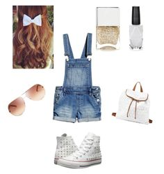 """Untitled #41"" by afashionfangirl230 ❤ liked on Polyvore featuring Converse, Charlotte Russe, Azature, Nails Inc. and Chloé"