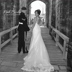 Real bride Stevie looks beautiful in 'Megan' by Anna Sorrano  Fall in love all over again with this classic figure flattering fishtail  Please share your photos with us by emailing info@wed2b.co.uk
