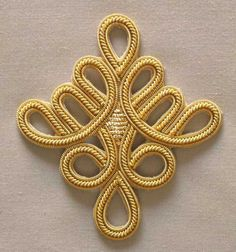 4 Hand Embroidered Appliques Gold Bullion Celtic Knot | eBay