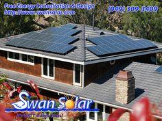 Family Homes, Home And Family, Solar Panel Shingles, Solar Power Panels, Swan, Tiles, Outdoor Decor, Design, Solar Energy Panels