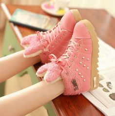 Buy directly from the world's most awesome indie brands. Or open a free online store. Brown Sneakers, Pink Sneakers, Canvas Sneakers, Sweet Lady, Indie Brands, Cute Pink, Pink Yellow, Baby Shoes, Style Inspiration
