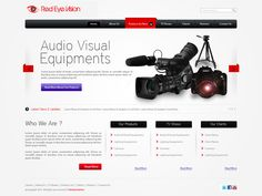 this website layout design for demo template for Audio Visual Equipment's Portel online shopping portal. I work on layout designing photoshop