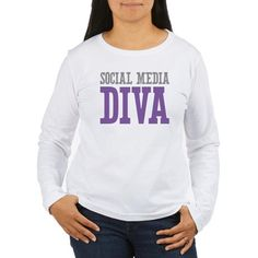 Social Media DIVA Long Sleeve T-Shirt - great gift idea!
