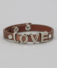 Look what I found on #zulily! Bronze & Silver 'Love' Bracelet #zulilyfinds
