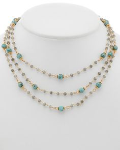 Spotted this Rachel Reinhardt 14K Gold Over Silver Gemstone Necklace on Rue La La. Shop (quickly!).