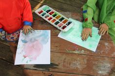 Painting with Colored Ice Cubes