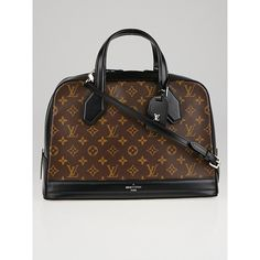 Pre-owned Louis Vuitton Limited Edition Black Monogram Canvas Dora... ($3,295) ❤ liked on Polyvore featuring bags and luggage