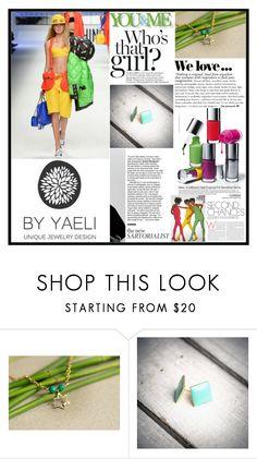 """YAELI JEWELRY.34"" by samirhabul ❤ liked on Polyvore featuring Moschino, Zara, Clinique and ByYaeli"