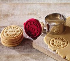 Love this! Cookie Cutters – ★HOME MADE ★ Keks-Stempel ø 7cm – a unique product by Utenliesjen on DaWanda