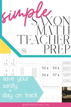 Saxon Math for early elementary years is a LOT of prep!  Grab the Saxon Math Teachers Companions for grades 1-3 and get all the extras prepared for you.  Includes charts, number lines, flash cards; everything you need to stay on track with Saxon Math