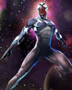 Spiderman's Captain Universe Suit When a lab accident granted Spider-Man the Uni-Power, his costume was cosmically changed into the Captain Universe outfit. Marvel Universe, Captain Universe, Marvel Comics, Marvel Heroes, Venom Comics, Comic Books Art, Comic Art, All Spiderman, Spiderman